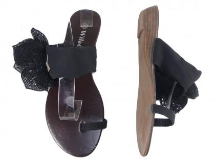Schwarze flache Flip-Flops für Damen - 2