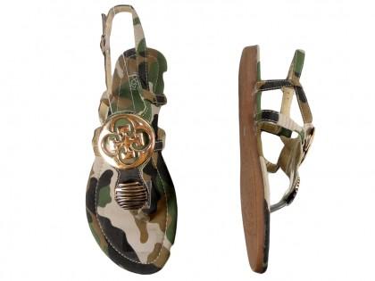 Sandały damskie płaskie buty moro