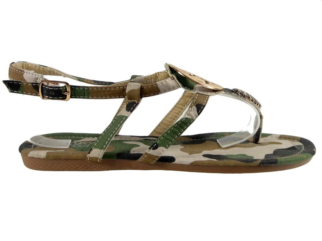 Damen flache Sandalen Camo Schuhe - 1