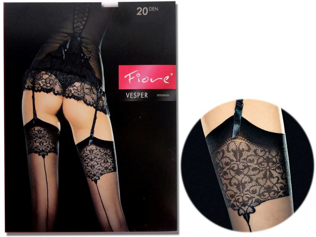 FIORE VESPER BELT STOCKINGS MIT NAHT - 4