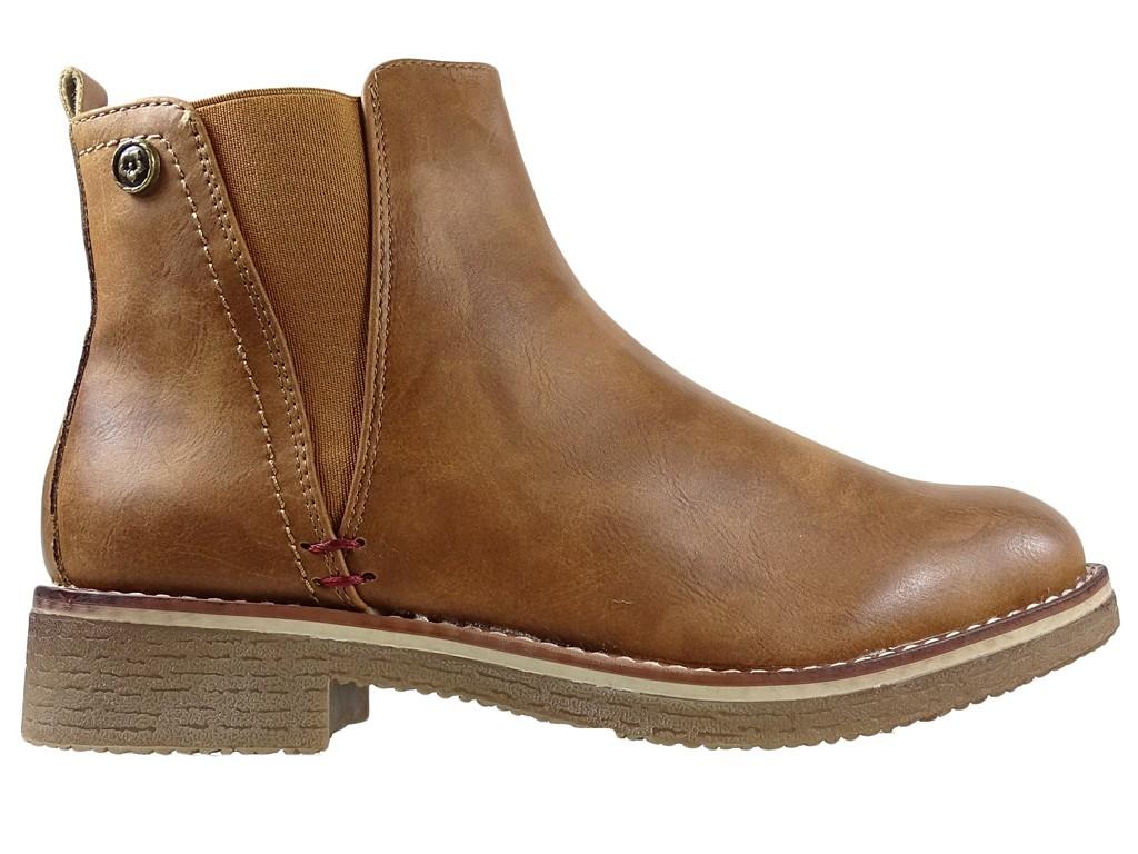 Ladies' flat brown boots - 1