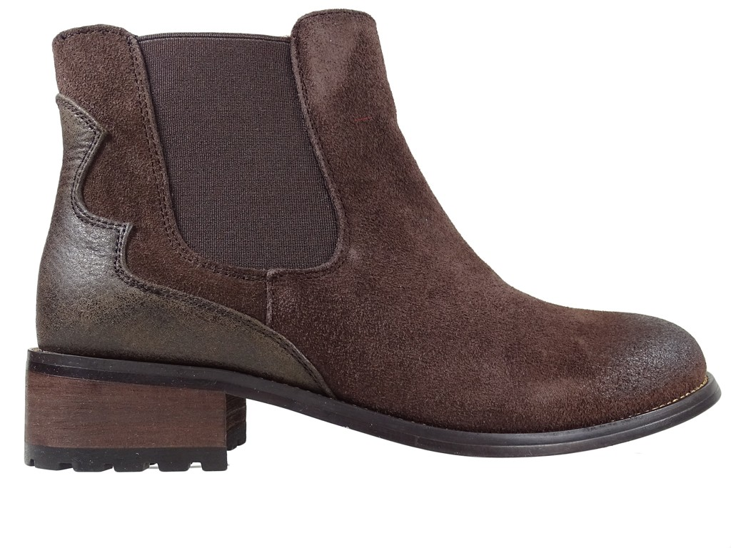 Leather boots brown ladies' daggers - 1