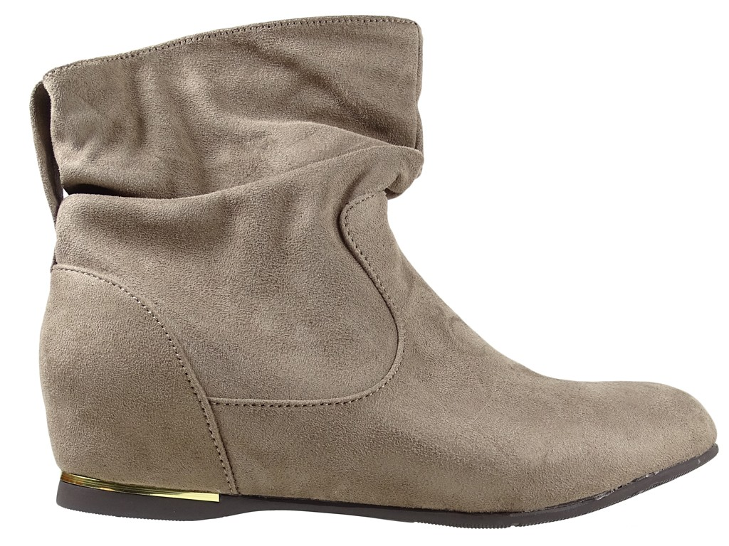 Flache Schuhe, Damenstiefeletten beige - 1