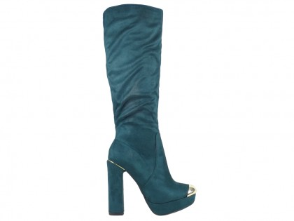 Ladies' boots on the pole suede boots - 1