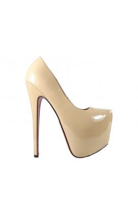 Beżowe szpilki wysokie szpilki High Heels