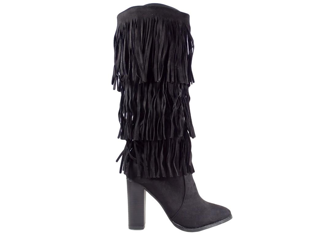 Ladies' boots sticks with tassels - 1