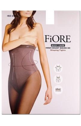 Rajstopy bikini z wysokim stanem 40den Fiore