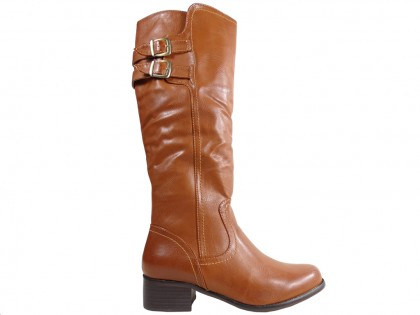 Ladies' boots to the knee eco leather - 1