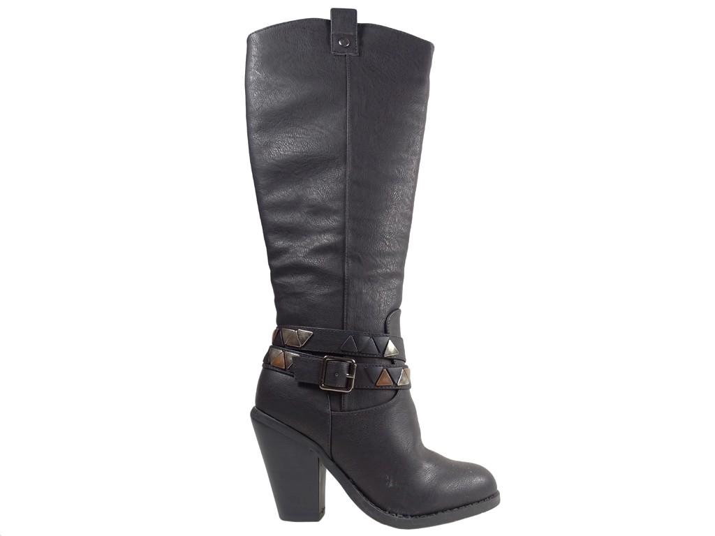 Black female cowgirls eco leather - 1