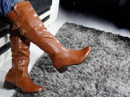 Ladies' boots to the knee eco leather - 2