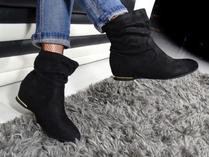 Czarne płaskie buty damskie wygodne