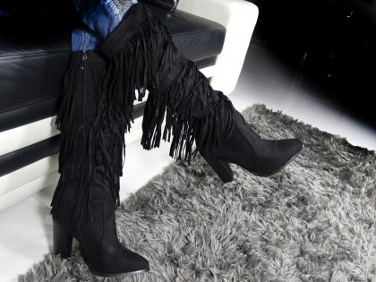 Ladies' boots sticks with tassels - 2