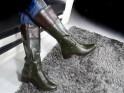 Green ladies' boots low heel - 2