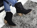 Women's black cowgirl boots on the block - 2