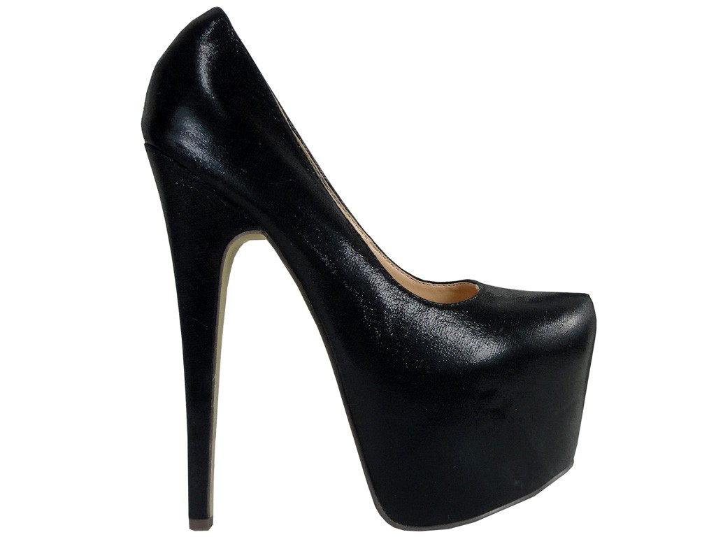 Outlet High Black High Heels auf der Plattform - 1