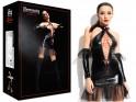 Czarna sukienka erotyczna jak skóra latex wiązana