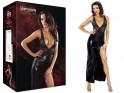 Schwarzes langes erotisches Kleid wie Leder - 3