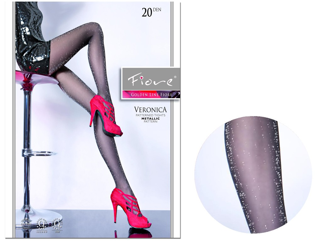 Tights with a metallic gloss Fiore - 3