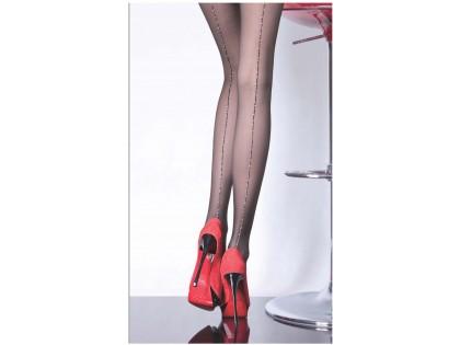 Damenstrumpfhose mit glänzender Lurexnaht - 2