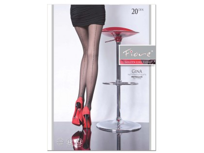 Damenstrumpfhose mit glänzender Lurexnaht - 1