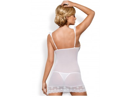 Biała erotyczna koszulka damska Obsessive