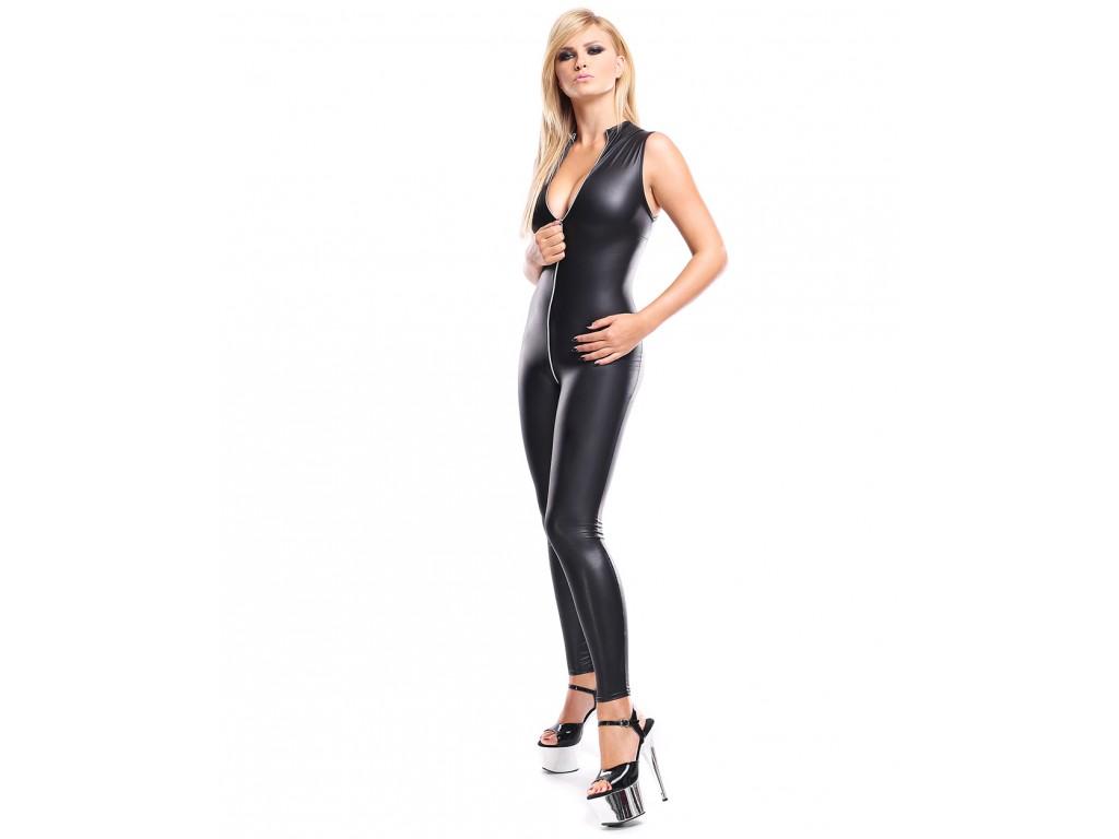 Czarny kostium jak skóra bielizna erotyczna