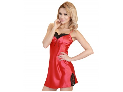Rote Satin Nachthemd Damenunterwäsche - 1