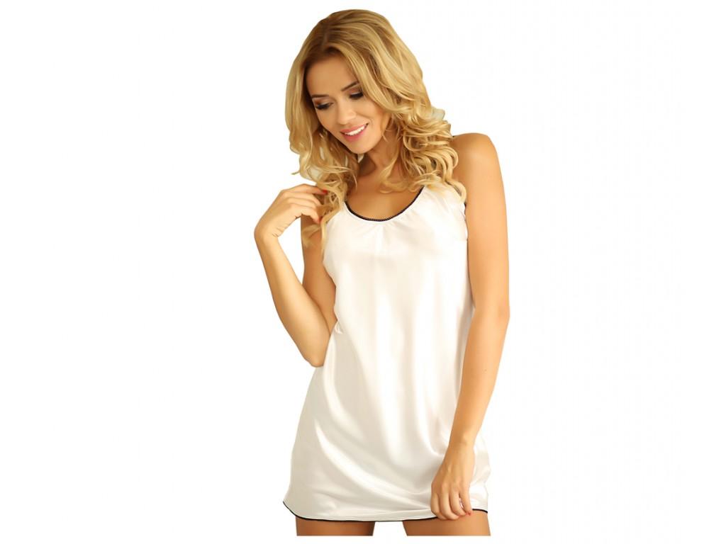 Ecru bielizna damska satynowa halka koszulka - 1