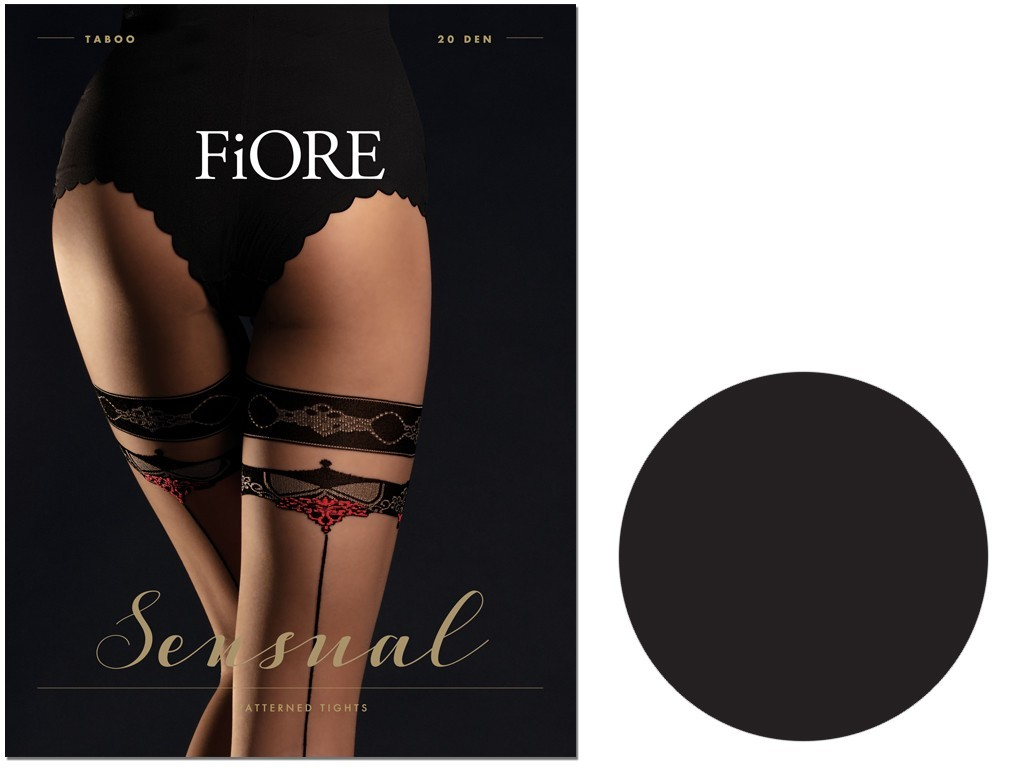 Tights like stockings with stitching TABOO Fiore 20den - 3
