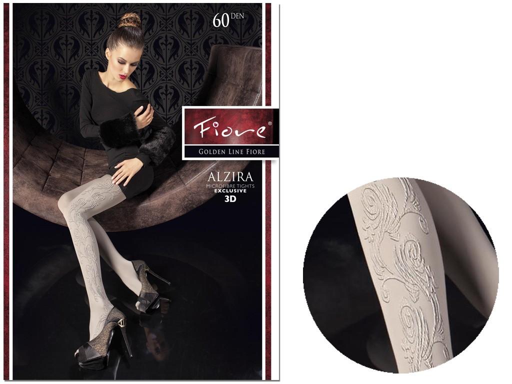 Damenstrumpfhose mit undurchsichtigem Muster 60 den Fiore - 3