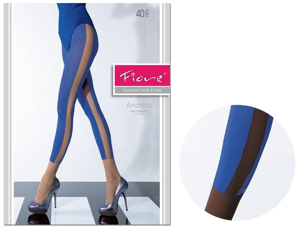 Tights like leggings 40 den Fiore dark blue black - 3
