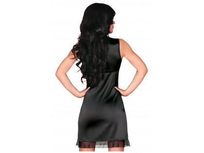 Satinschwarze Nachthemd-Damenunterwäsche - 2