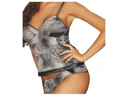 Erotisches Dessous-Set aus grauem Leoparden - 2