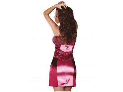 Różowo satynowo koronkowa koszulka bielizna damska - 2