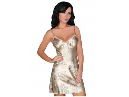 Beige gold satin T-shirt lingerie - 1