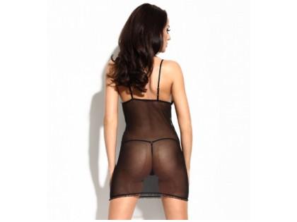 Black lace T-shirt erotic lingerie - 2