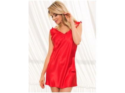 Czerwona satynowa koszulka nocna bielizna damska