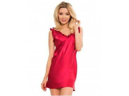 Burgundy satin nightgown ladies' underwear - 1