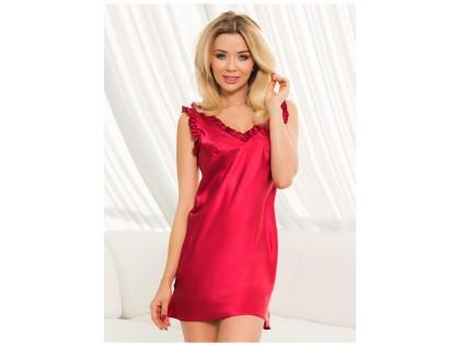 Burgundy satin nightgown ladies' underwear - 2