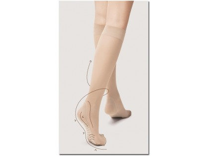 Knee socks 20 den Massage Fiore foot massage - 2