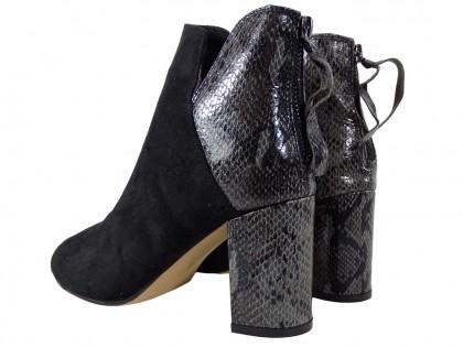 Czarne botki damskie na słupku buty damskie