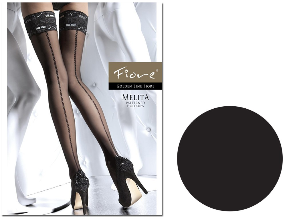 Self-supporting stockings with stitching 20 den Fiore - 3