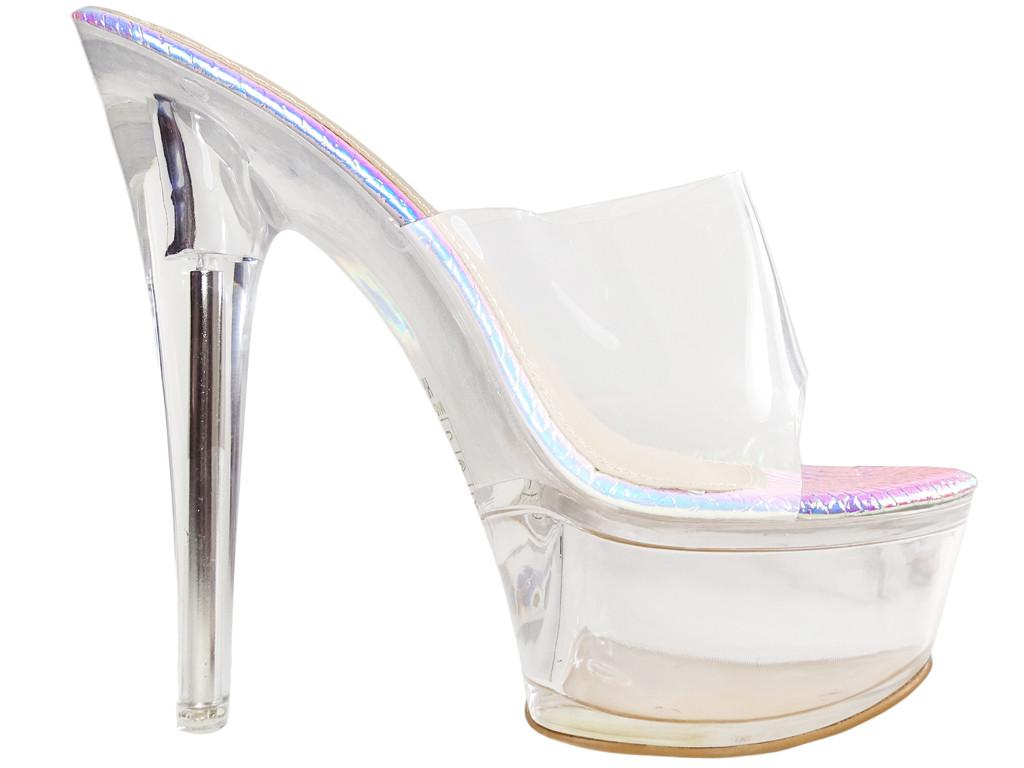 Volets d'épingles transparents incrustés de verres opalescents - 1