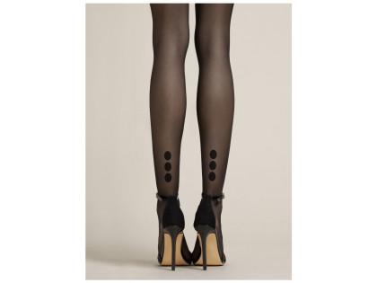 Glatte, matte Strumpfhose mit gepunktetem Knöchel für Frauen - 2