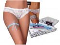 Blue garter satin lingerie - 2