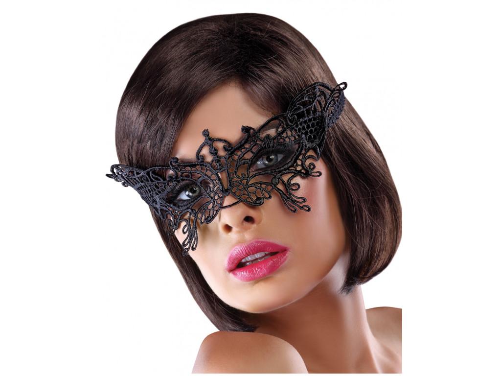 Black decorated eye mask erotic underwear - 1