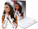 White satin gloves for women Livia Corsetti - 4