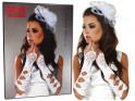 White satin gloves for women Livia Corsetti - 3