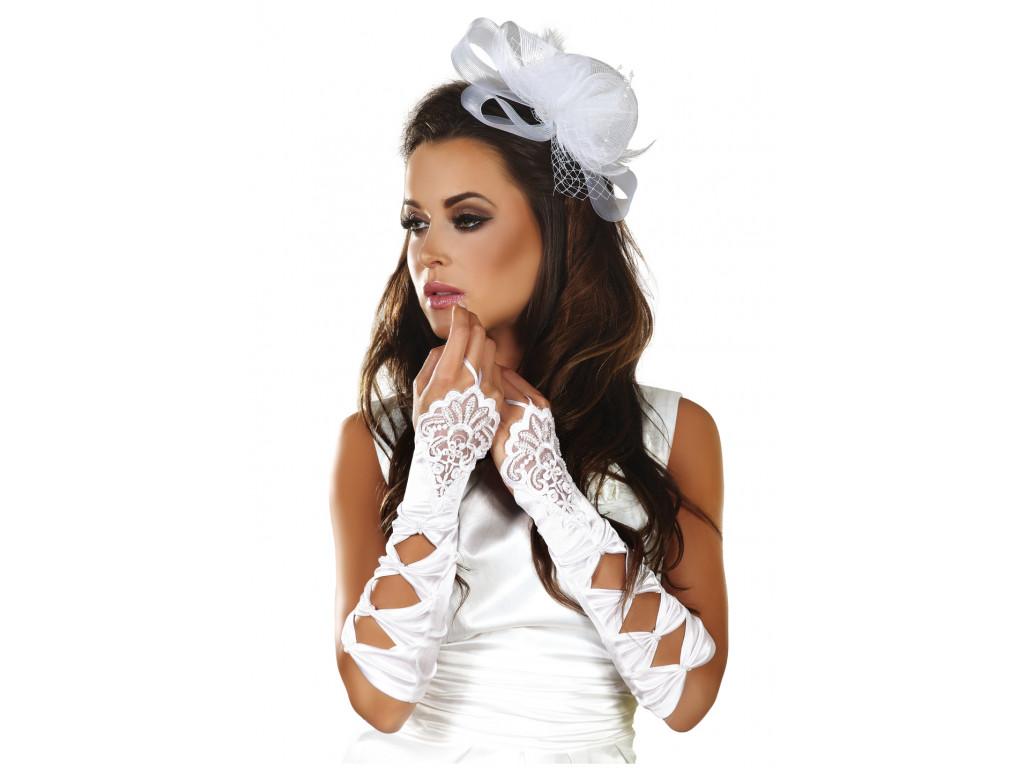 White satin gloves for women Livia Corsetti - 1