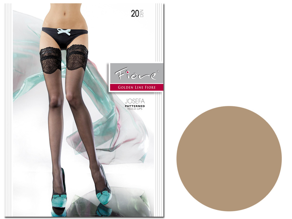 Smooth self-supporting stockings with 20den Fiore lace - 3